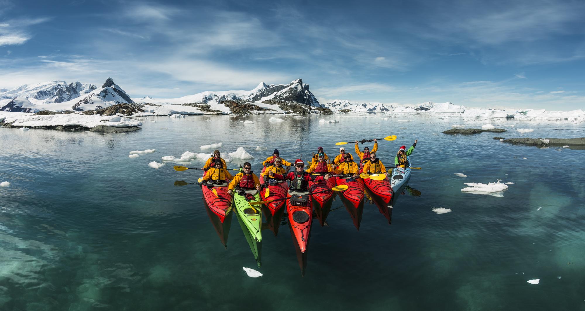 Kayaking among Ice Glaciers