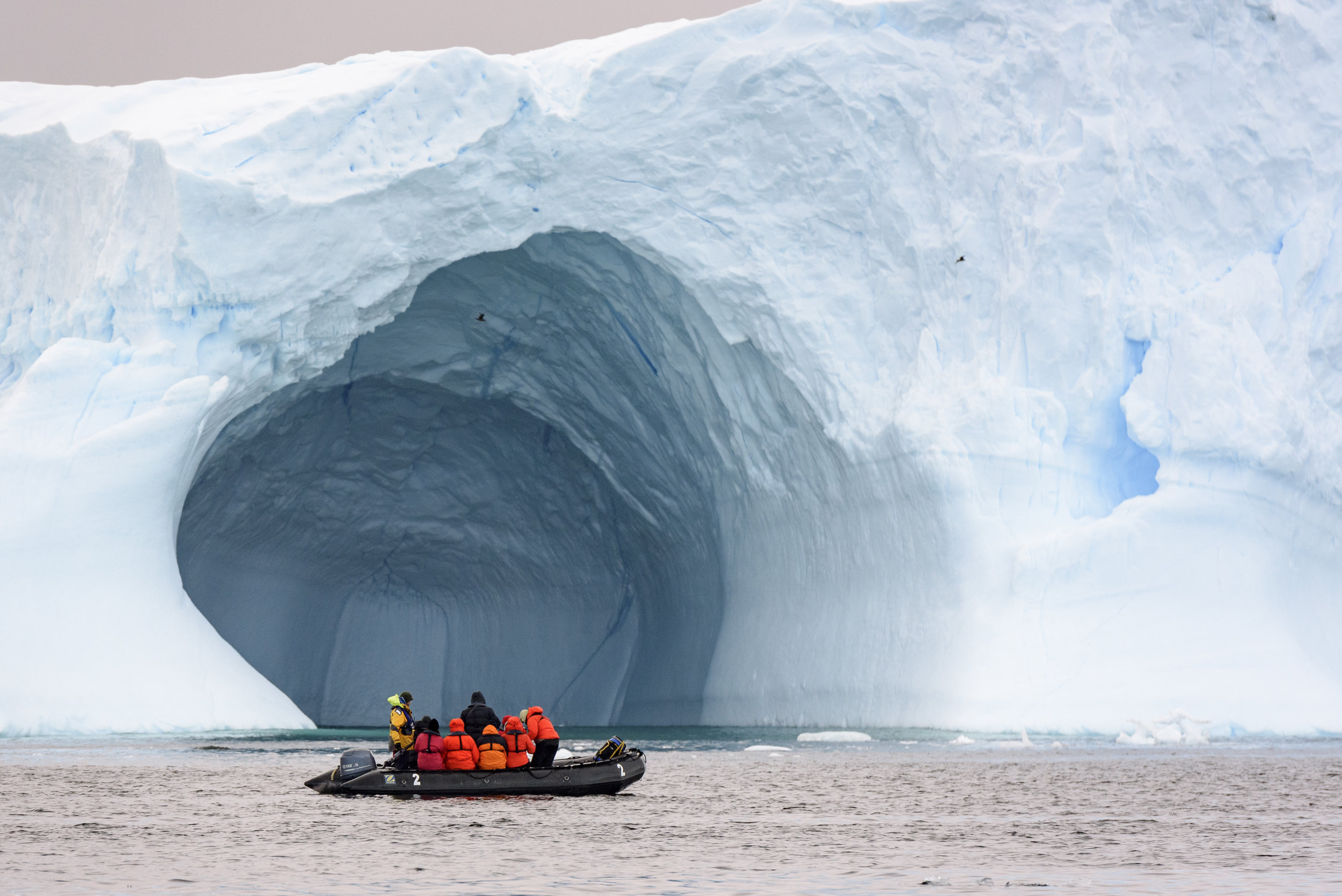 Passing by Ice Fjords in Antarctica