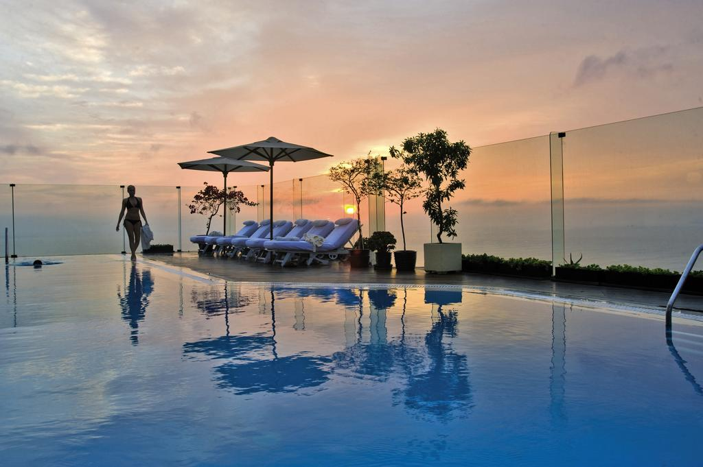 Sun at the Rooftop Pool at Belmond Miraflores Park, Lima, Peru