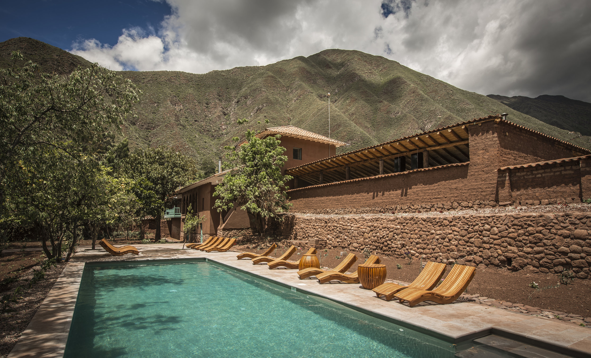 Pool at explora Sacred Valley, Peru