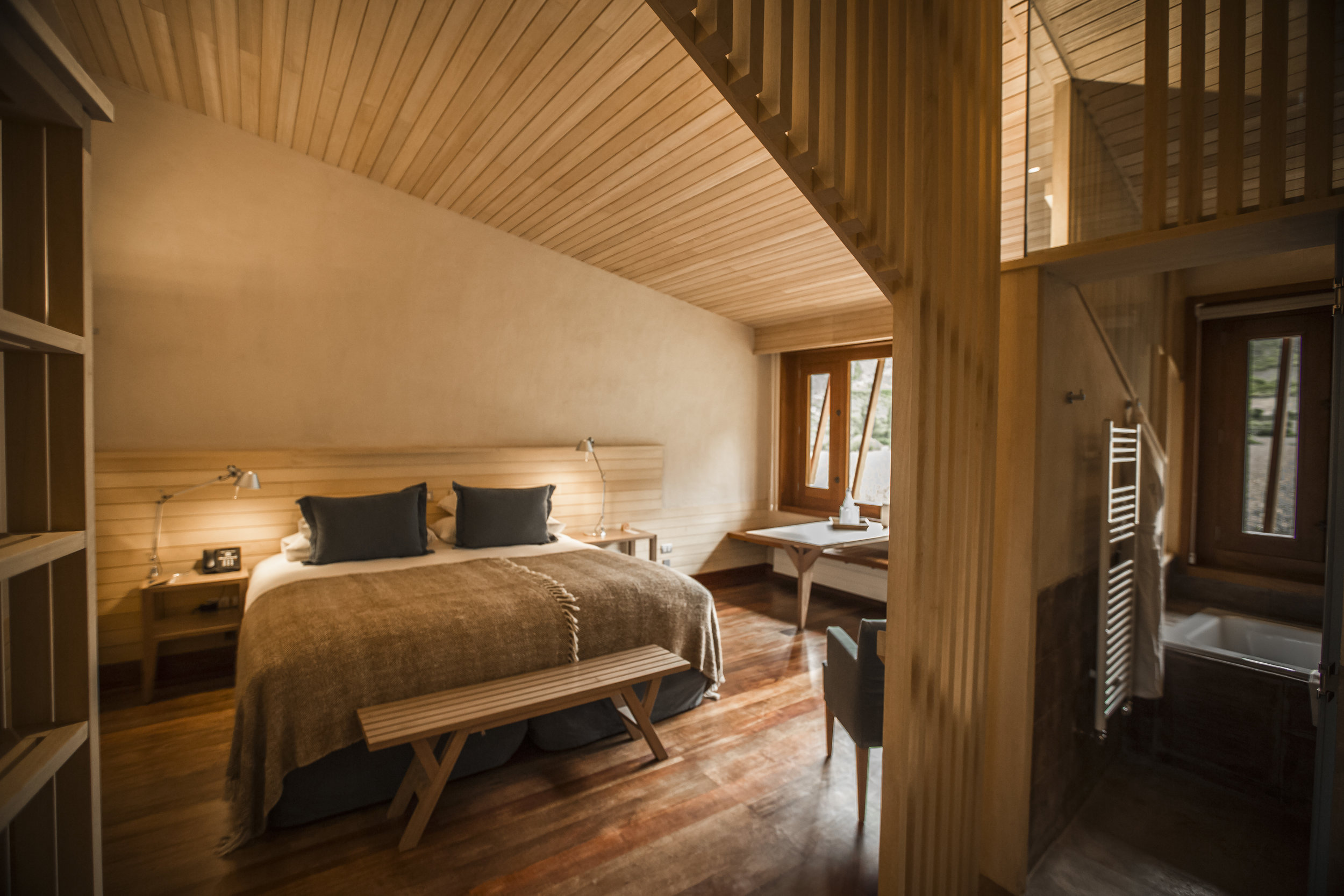 Cozy room at explora Sacred Valley, Peru