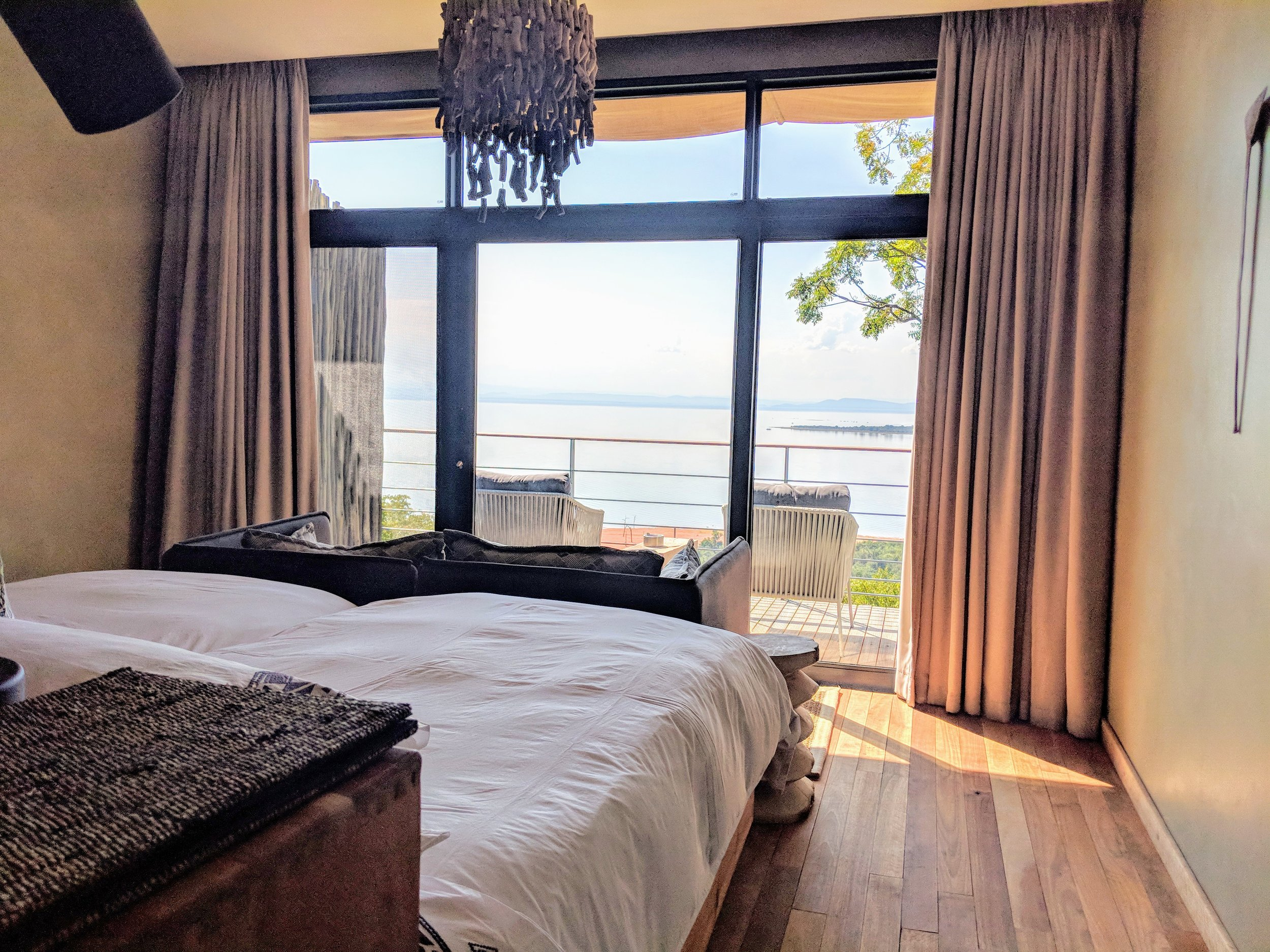 Our gorgeous lake view room at Bumi Hills...pictures don't do it justice!