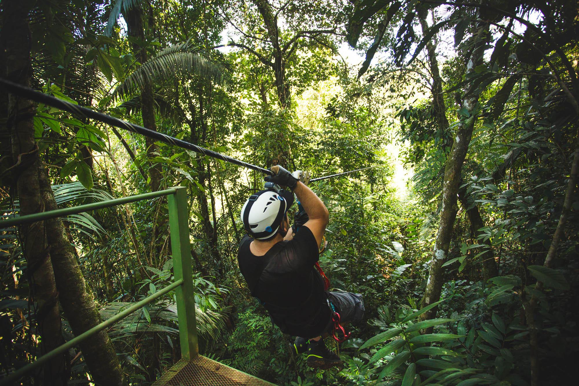 Zip Lining in Arenal
