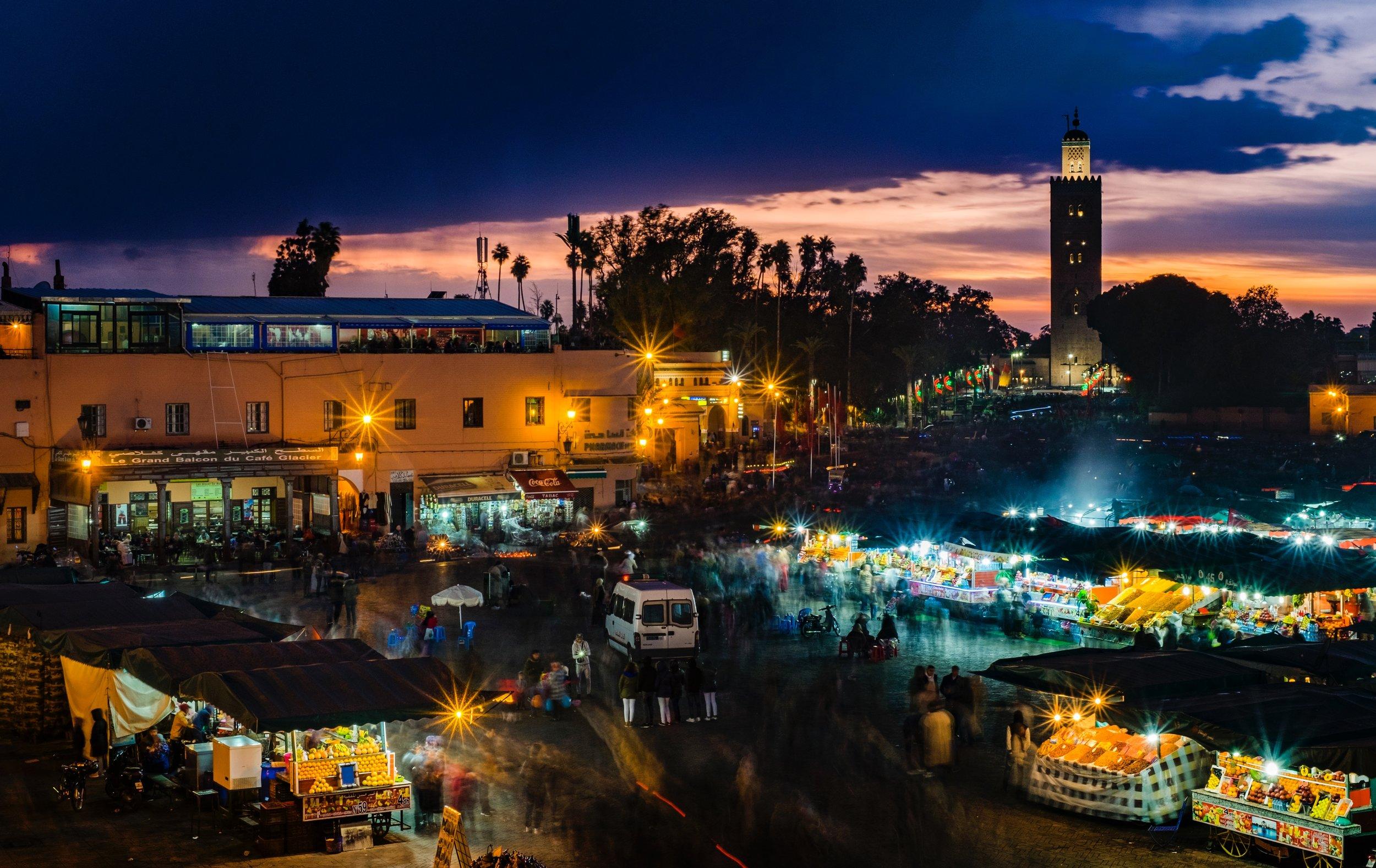 Jamaa el-Fnaa Square in Marrakech