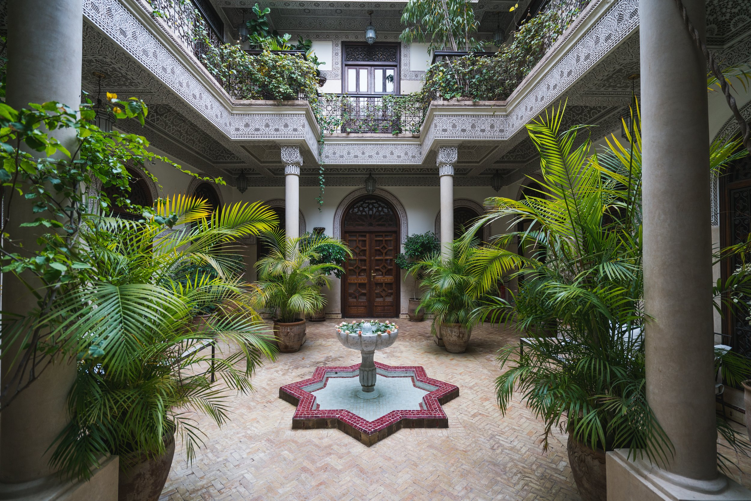 Courtyards in Morocco
