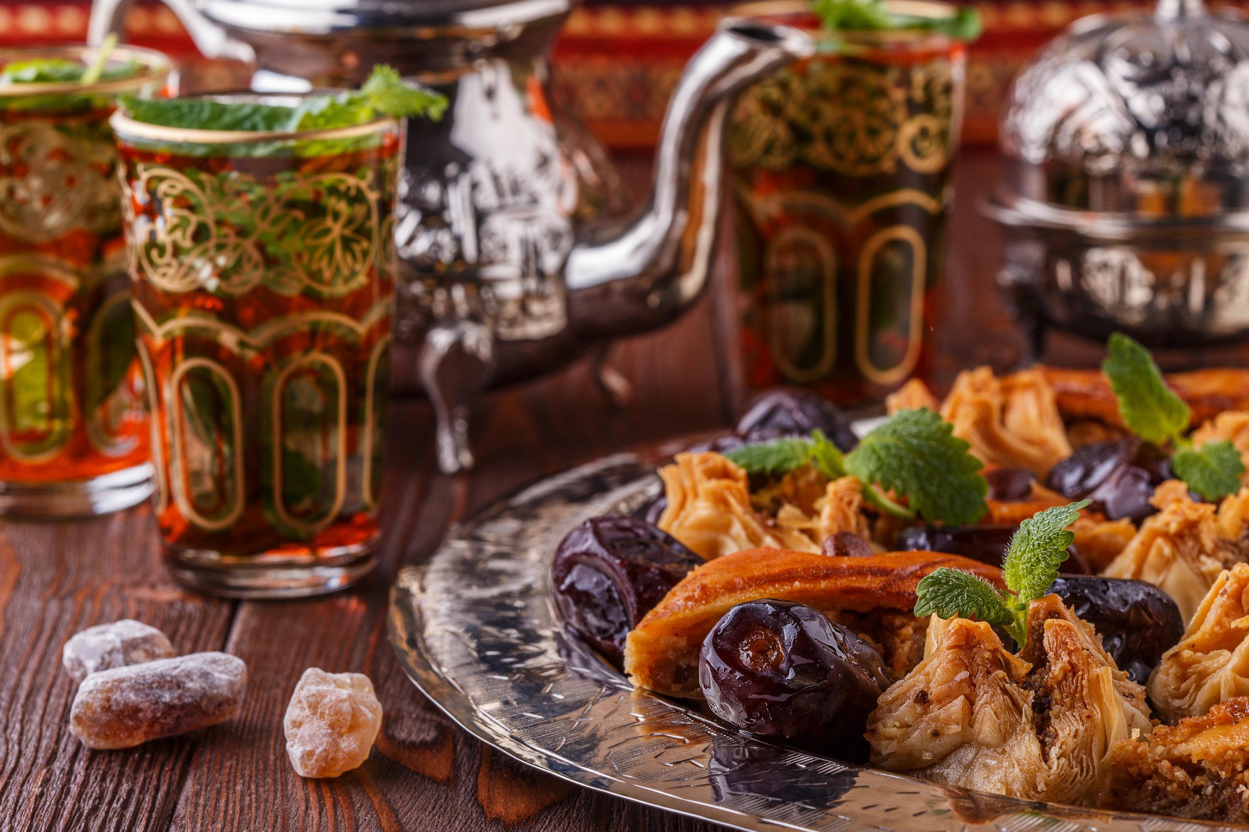Traditional Moroccan mint tea