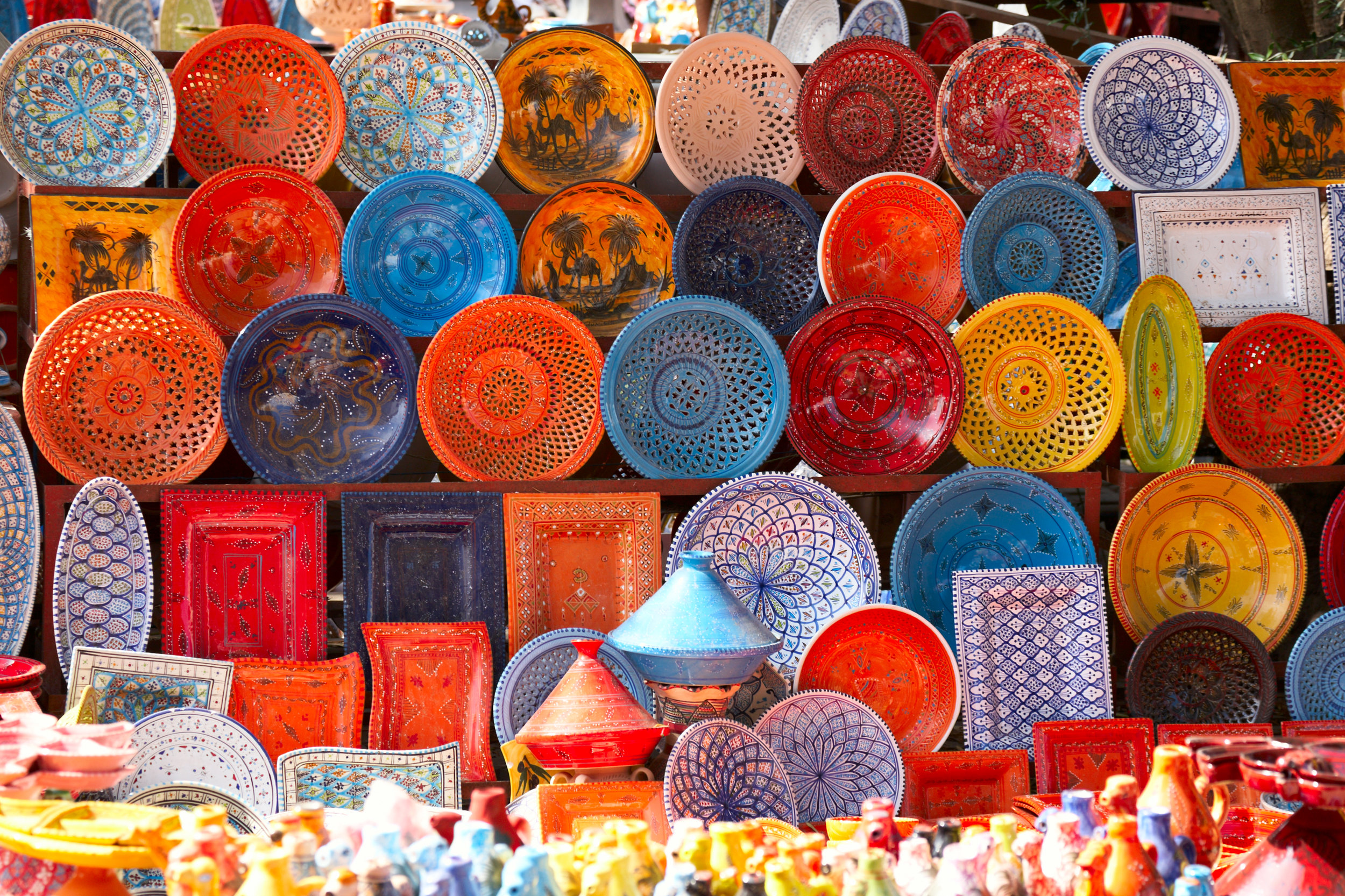 Traditional Handmade Plates in Morocco