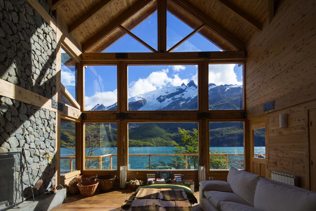 View from Aguas Arriba Lodge in El Chalten, Argentina