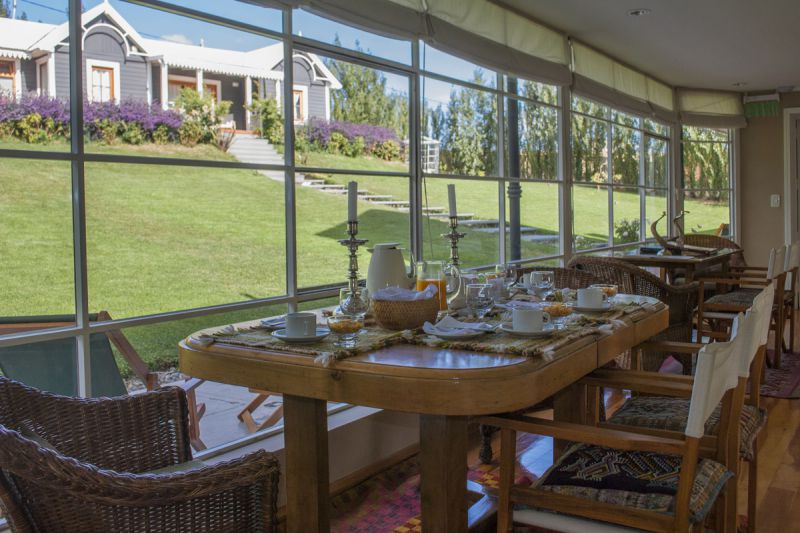 Breakfast Room at Los Ponchos in El Calafate, Patagonia, Argentina