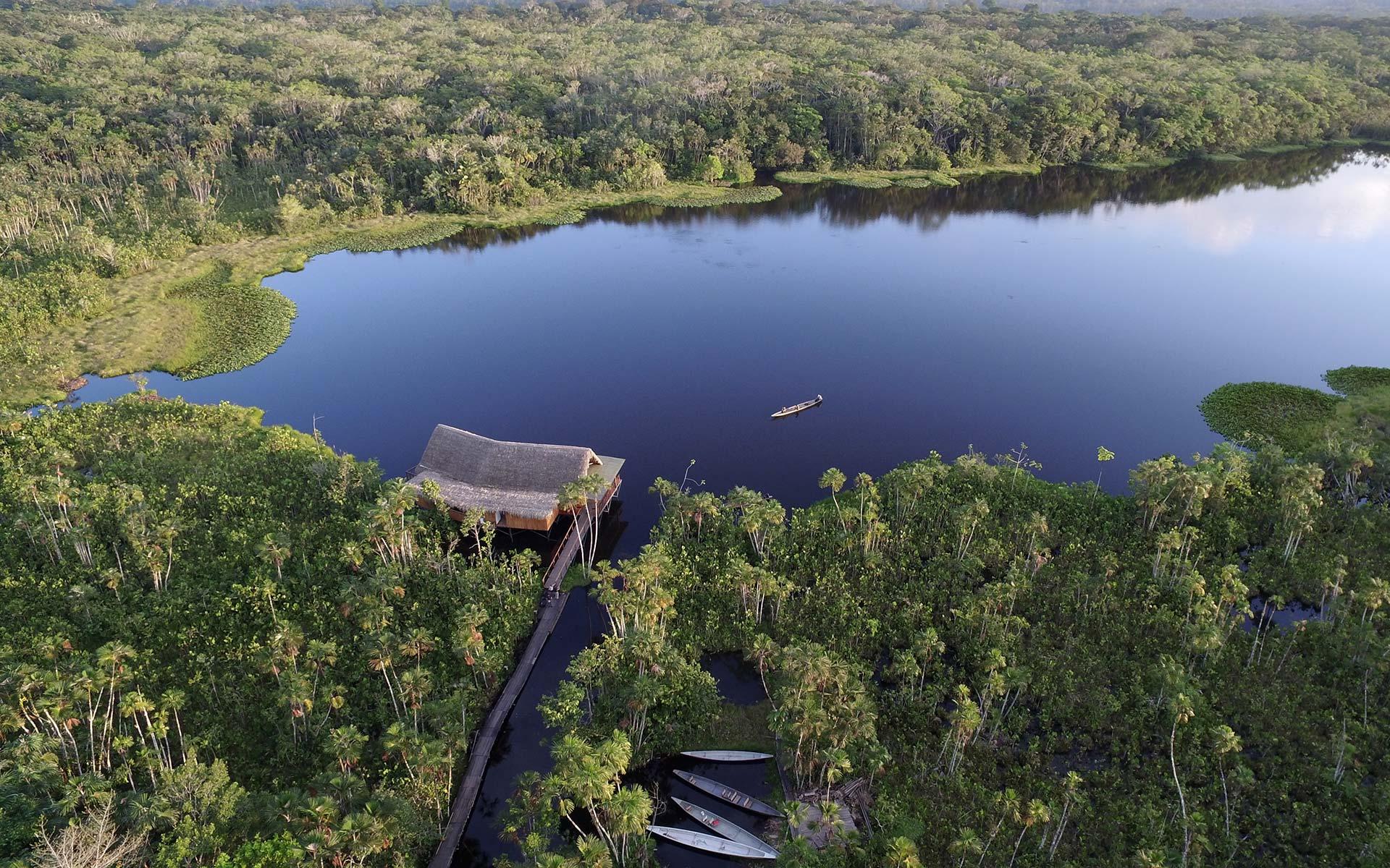 Sacha Lodge on Lake Pilchicocha, Amazon, Ecuador