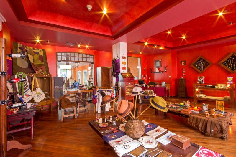 Gift Shop at Patio Andaluz Hotel in Quito, Ecuador