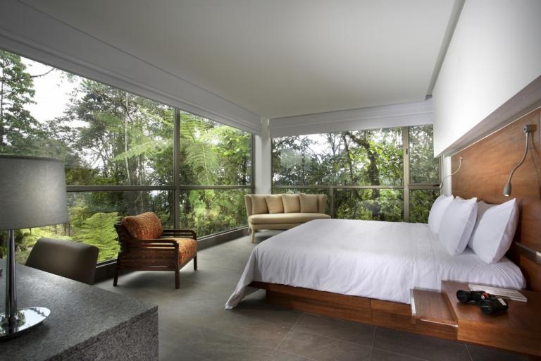 Room at Mashpi Lodge, Cloud Forest, Ecuador