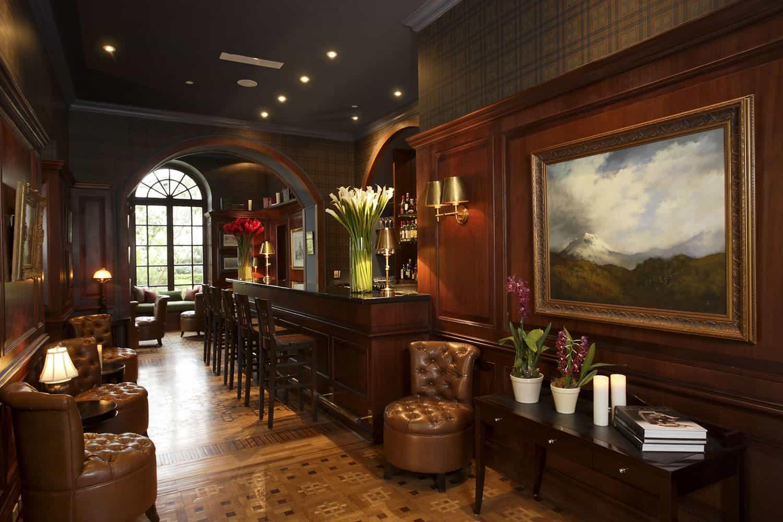 Bar at Casa Gangotena, Quito, Ecuador