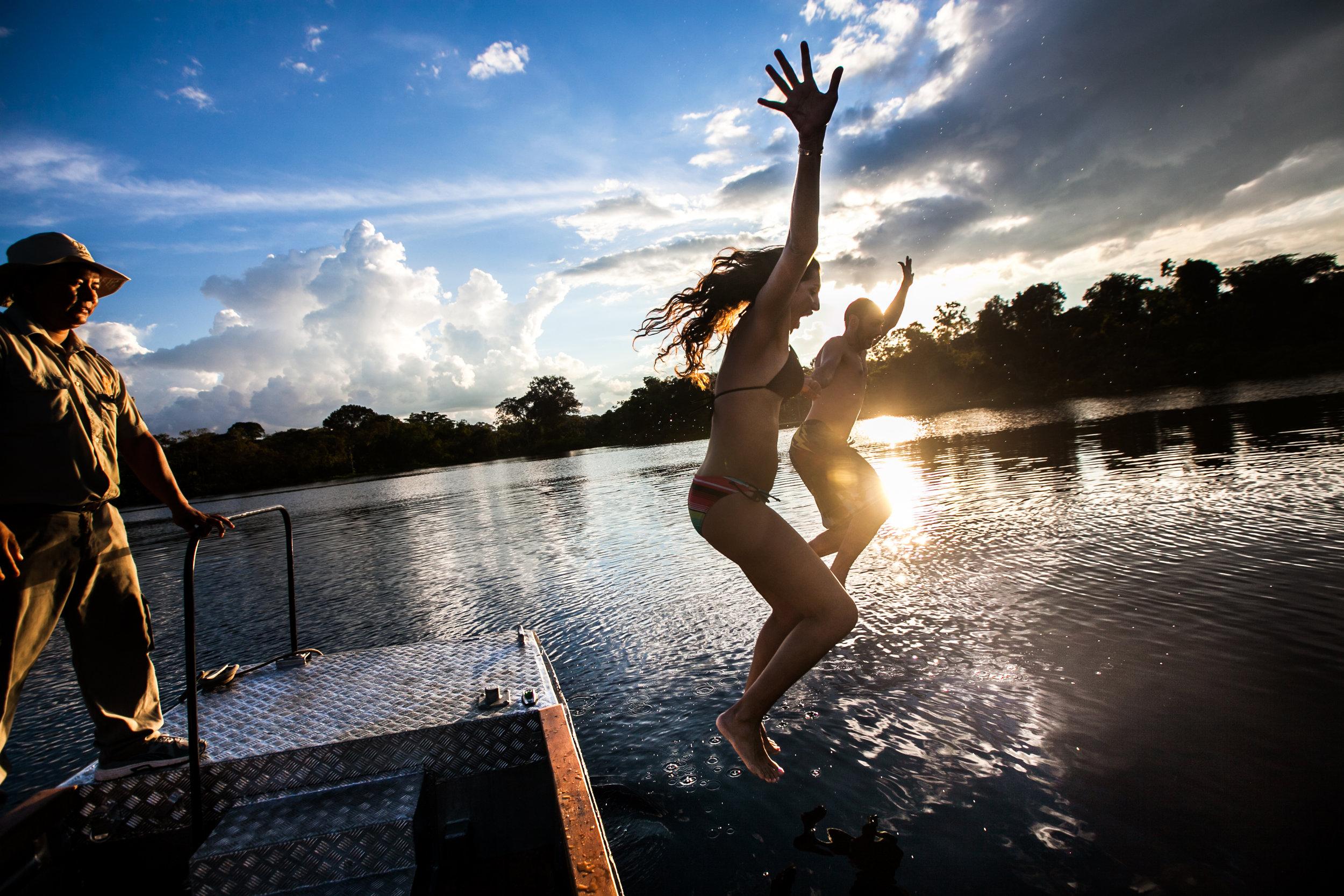Swimming in the Amazon with Delfin Amazon Cruises