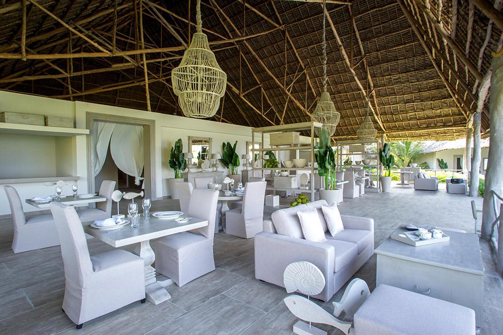 Dining Room at Zawadi Hotel in Zanzibar