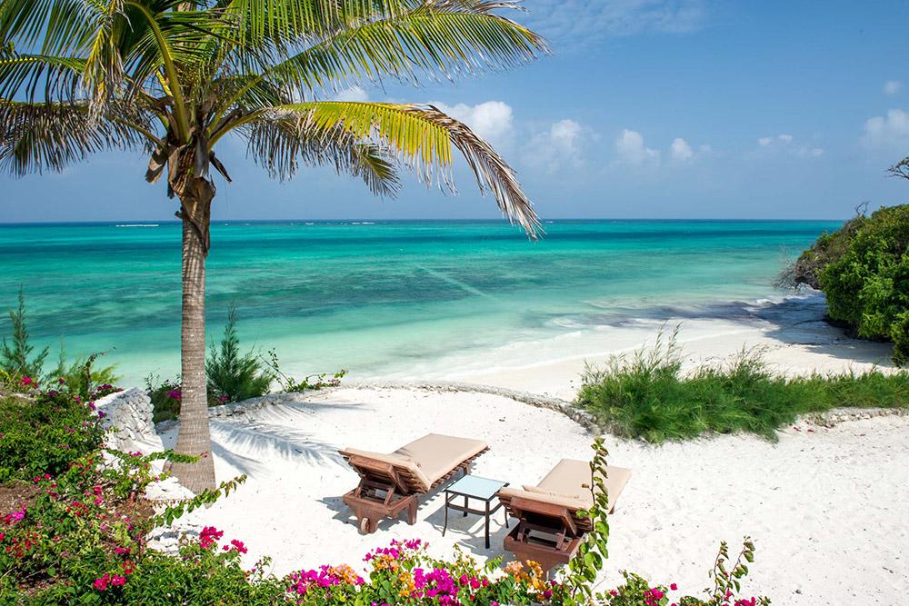 Beach view at Zawadi Hotel in Zanzibar