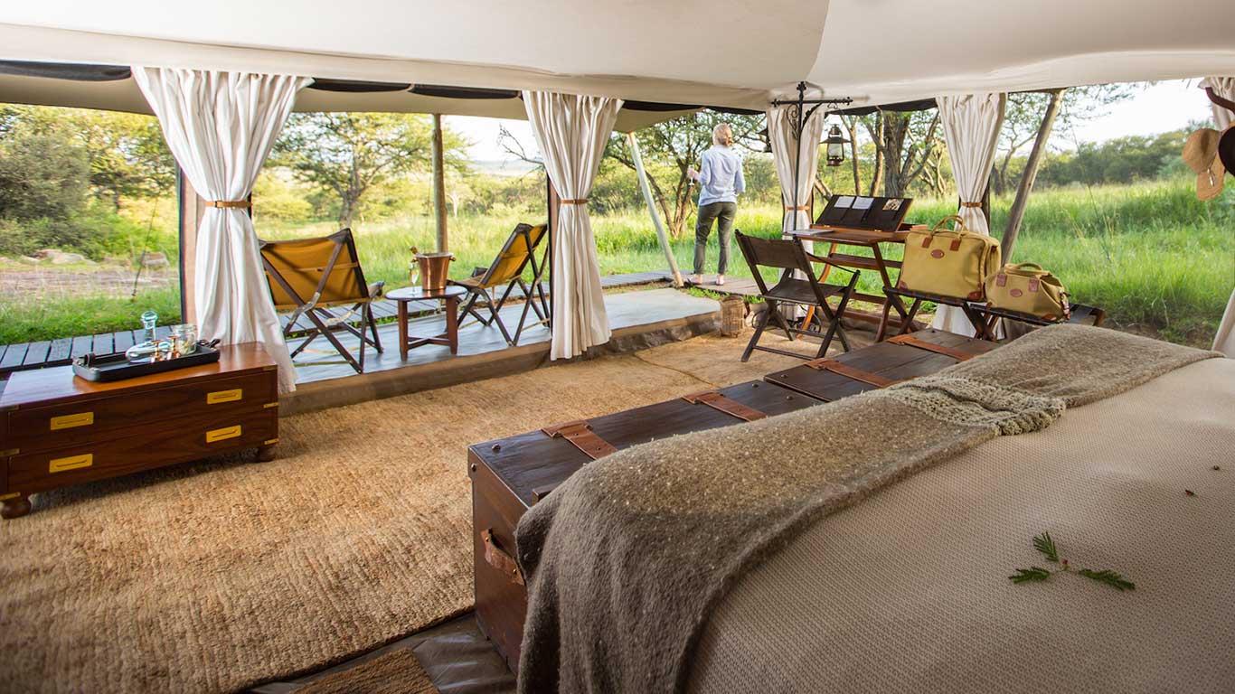 Accommodations at the Serengeti Pioneer Camp, Tanzania