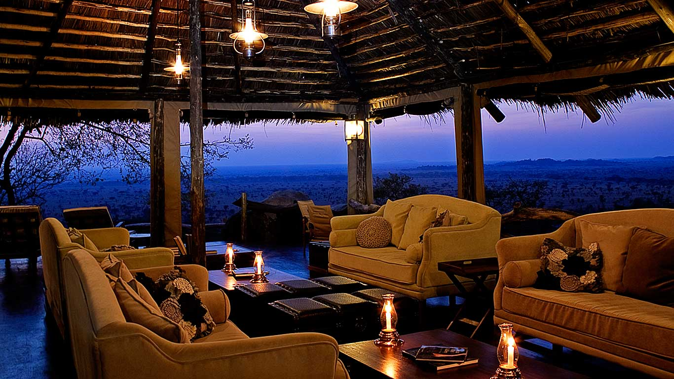 Lounge at Serengeti Pioneer Camp, Tanzania