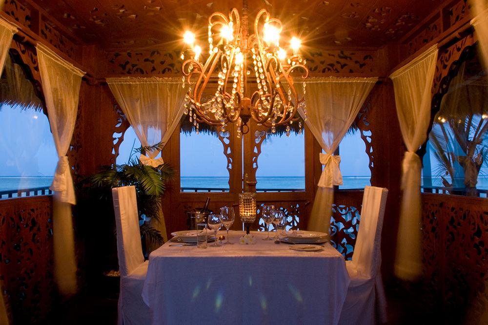 Dining at Breezes Beach Club in Zanzibar