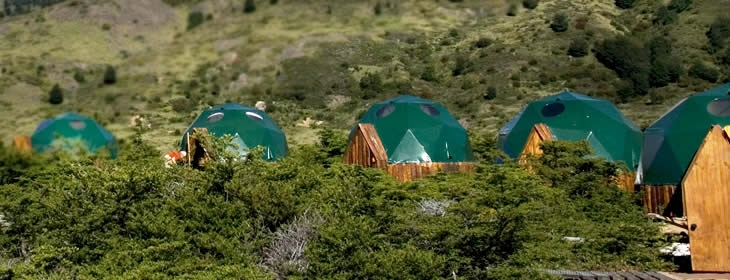 Dome Accommodations at eco Camp Patagonia, Chile