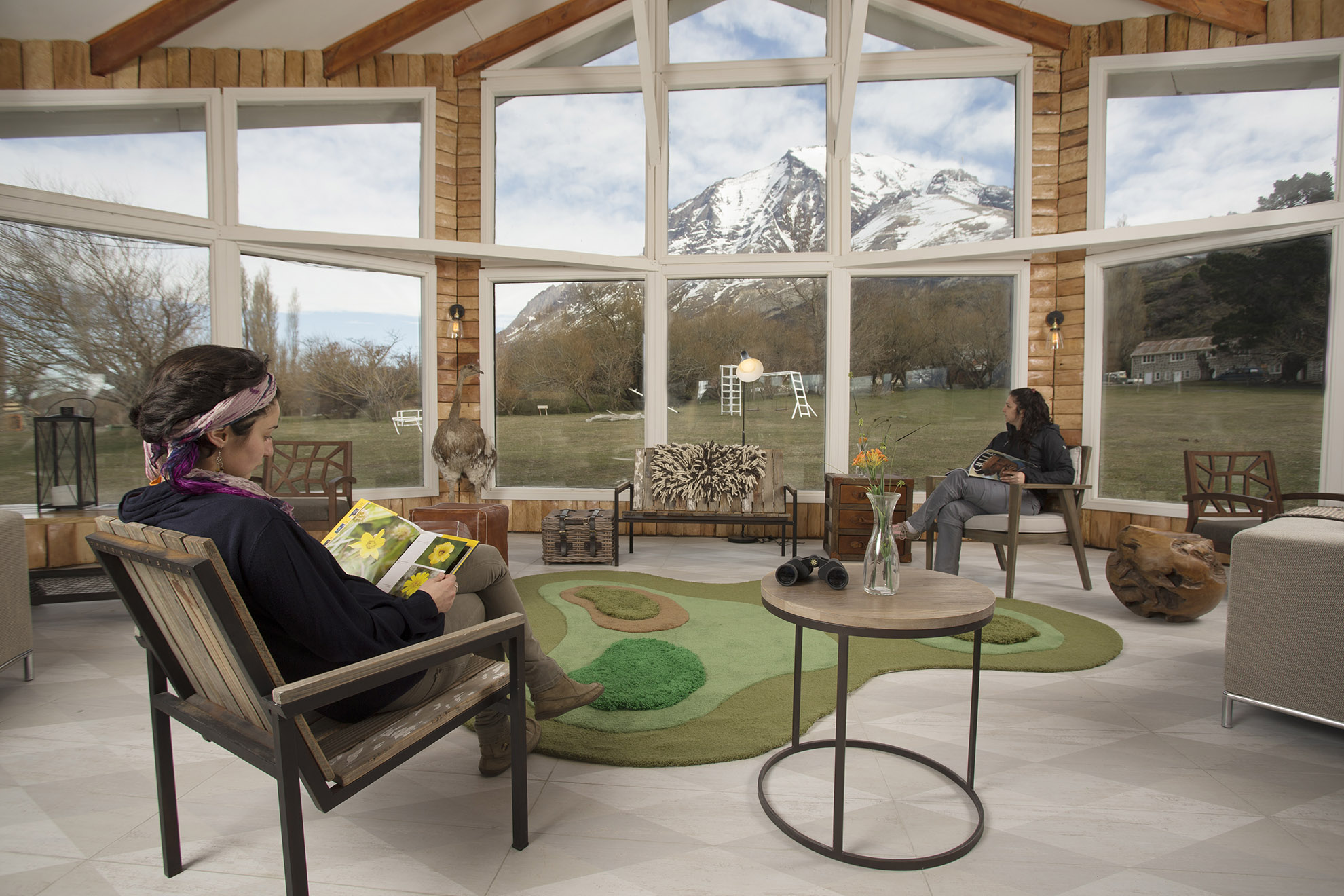 Common Area at Hotel Las Torres, Patagonia, Chile