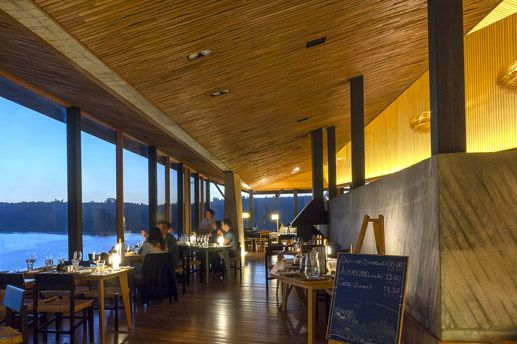 Dining Room with a View at Hotel Tierra Chiloe