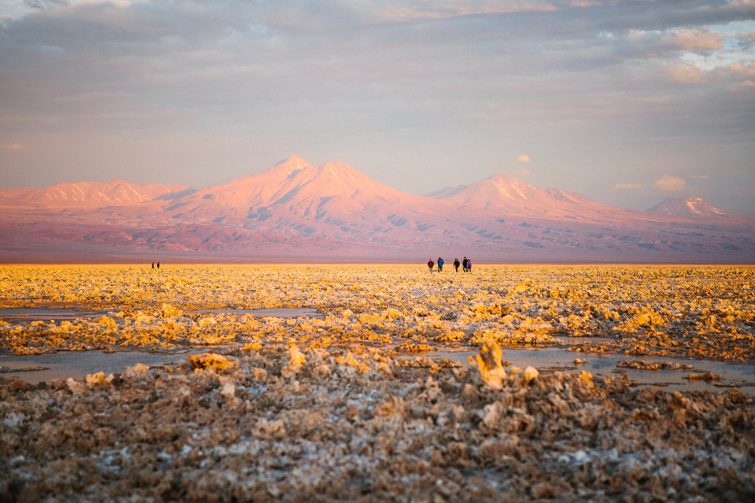 The salt flats of Atacama