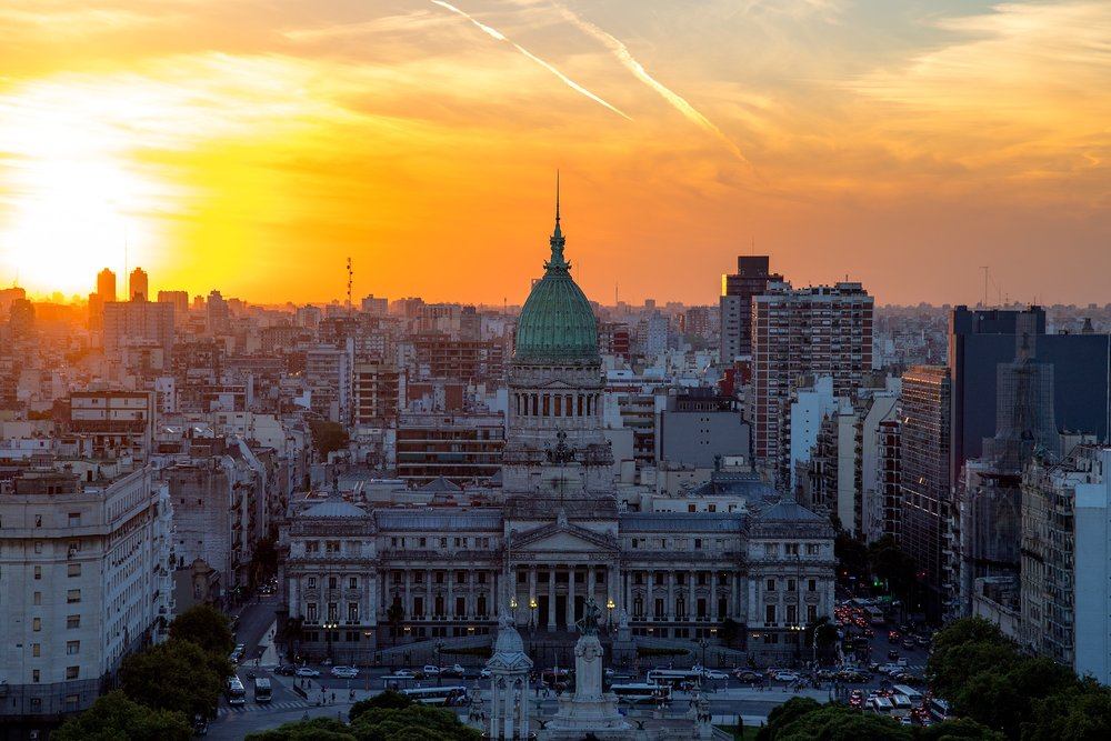 Sunset in Buenos Aires, Argentina