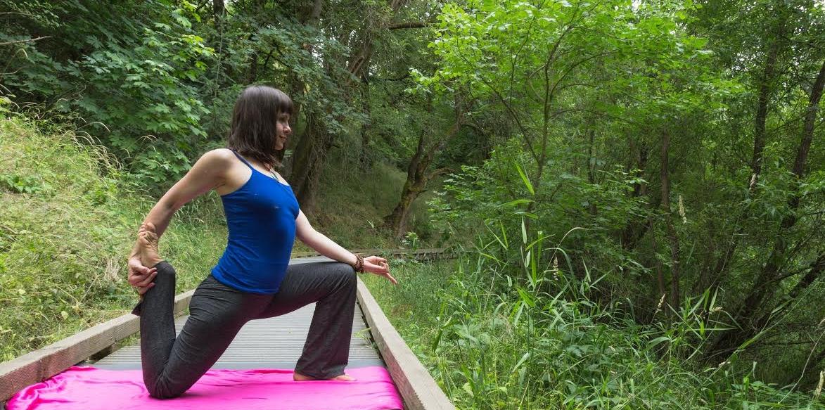 Kimi Marin Yoga in Monkey Tail Pose