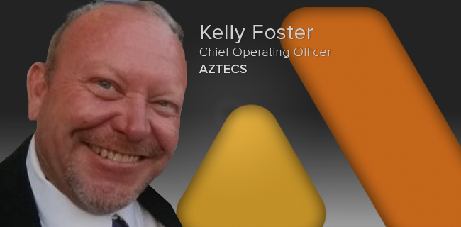 NEW OFFICER ANNOUNCEMENT - Chief Operating Officer   IRVINE | January 8, 2018 - Aztecs is pleased to announce the appointment of Kelly Foster as its new Chief Operating Officer. Kelly joins Aztecs as part of its merger with Stellar Telecom, Inc., a company he co-founded in 2000. His responsibilities will include the implementation, expansion, and management of Aztecs' services nationwide.
