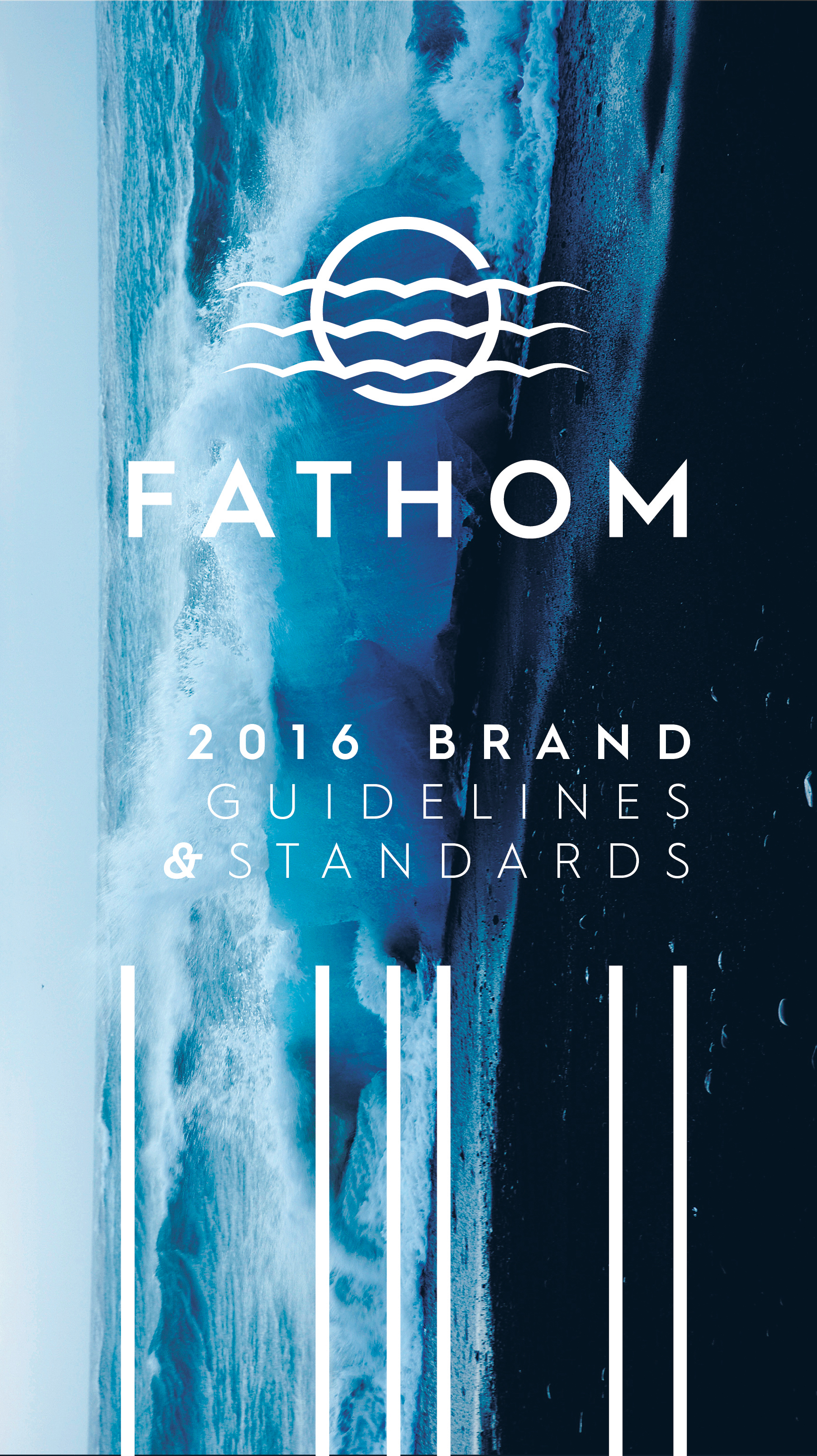 Fathom - For this branding project subject, I was given water so I chose to design around a fictional, commercialized submarine. Included are the mission statement, brand pillars, logo usage, photography usage, colors available to use, stationery and collateral for the brand.I also created a brochure to be given to possible clients regarding more information about the commercialized subs, which was a 16 page, saddle stiched booklet.