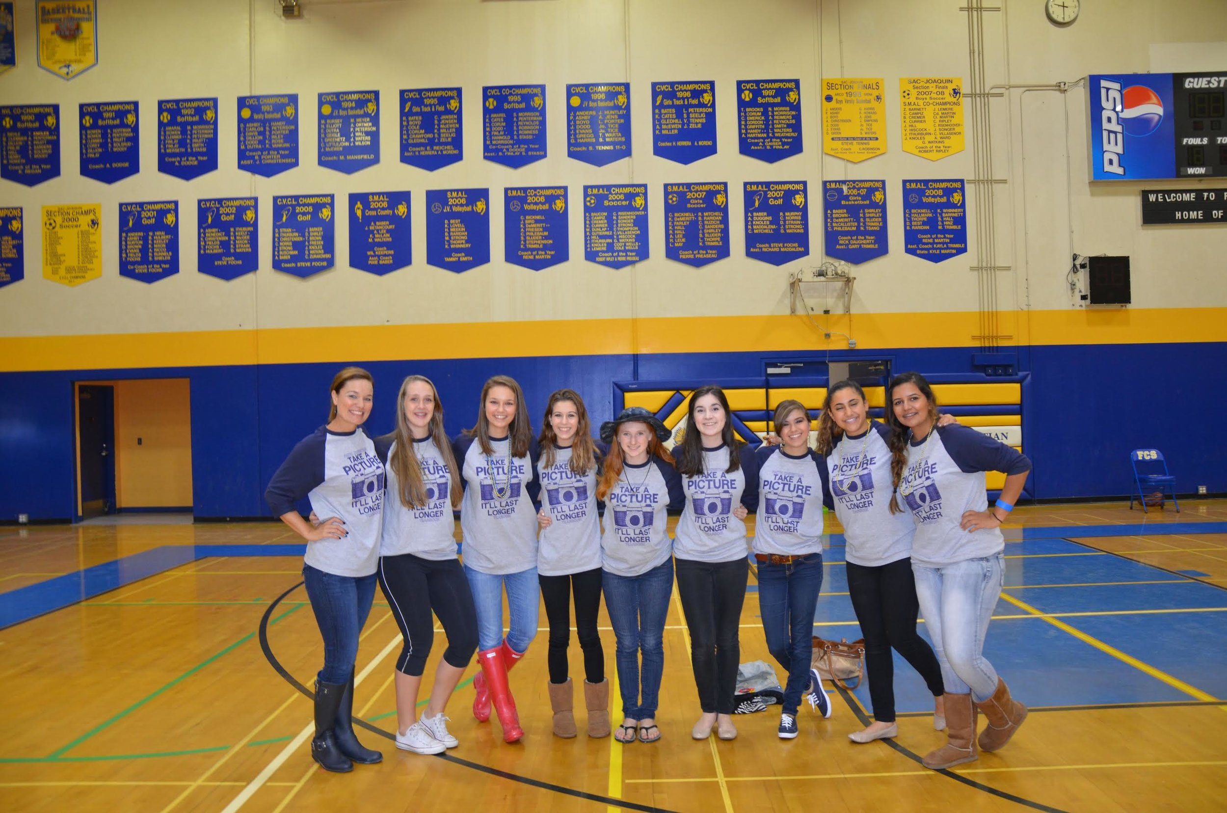 Jennifer's Junior and Senior girls 2015