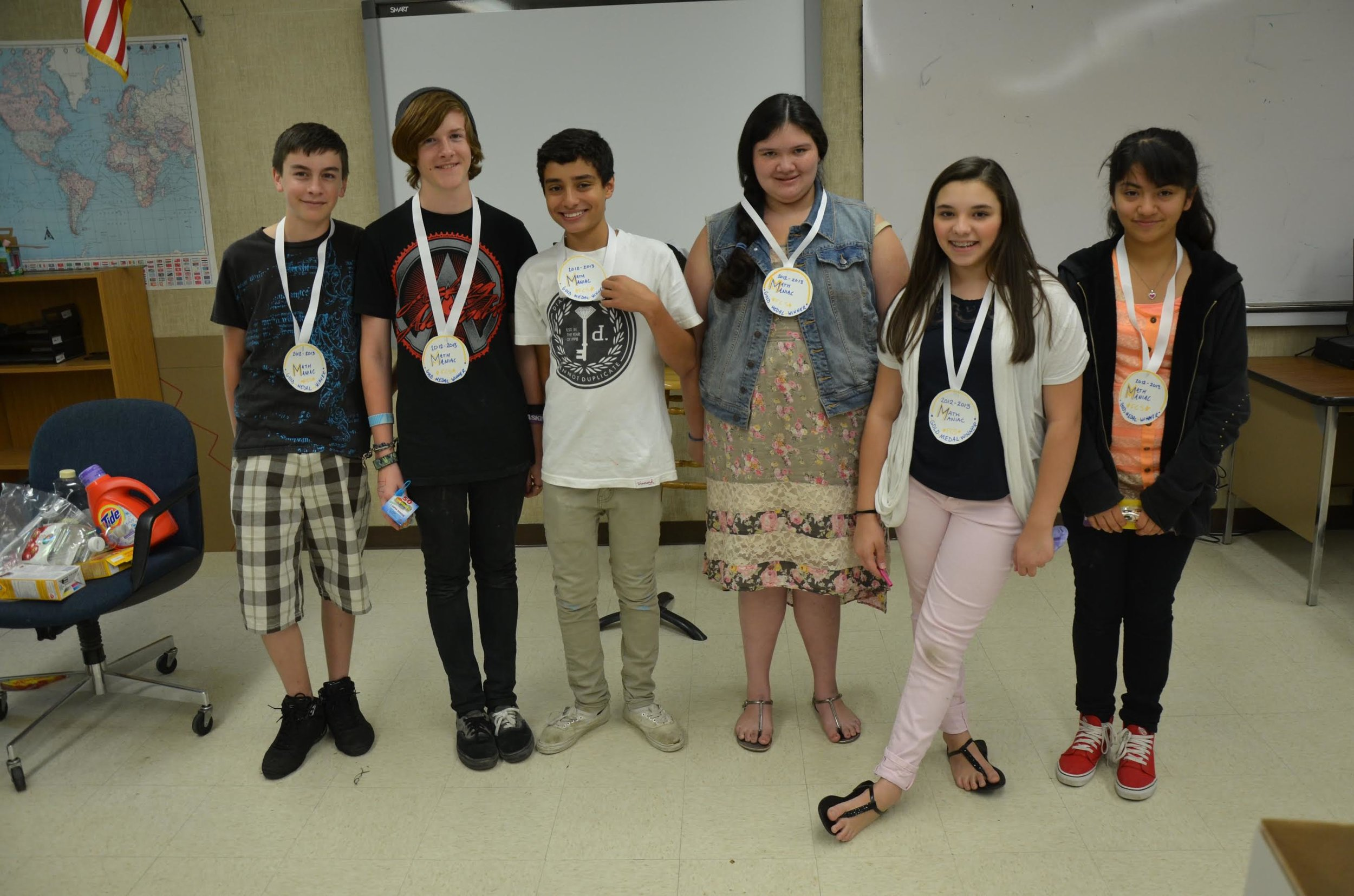 Math Olympics winners
