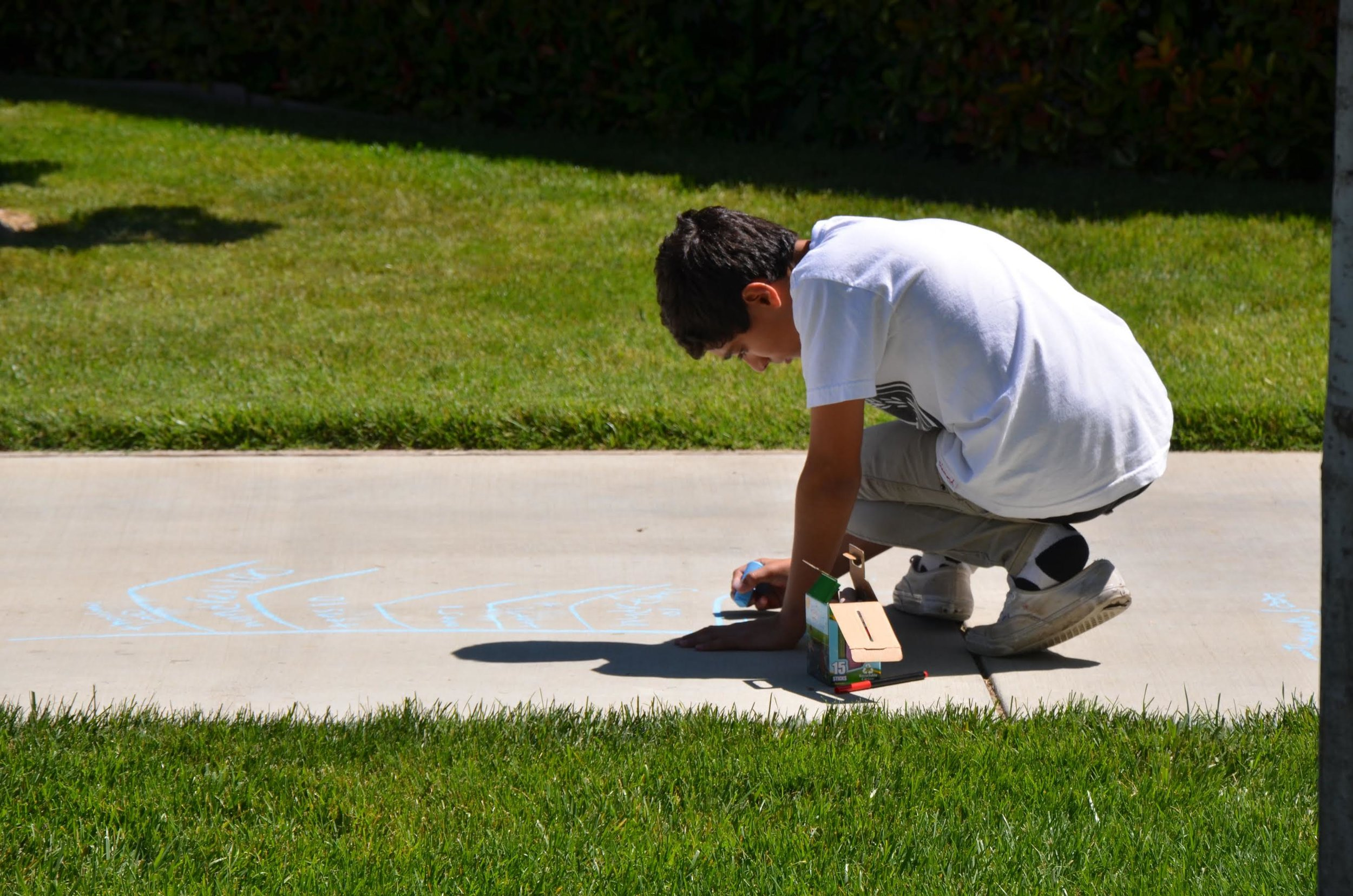 A math student working on place value in a big way