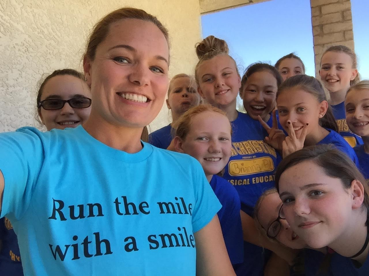 Mrs Payne's 7th grade girls' PE class LOVED running the mile...