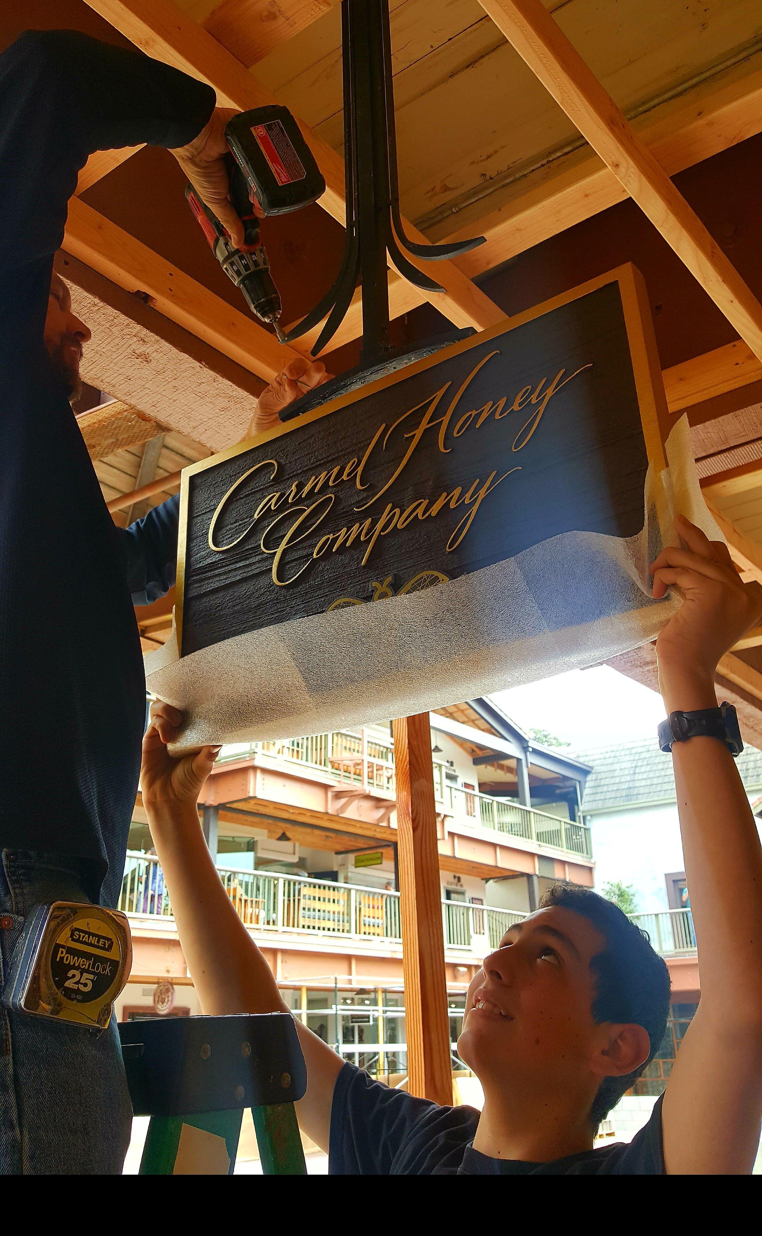 Carmel Honey Company sign & Jake Reisdorf.jpg