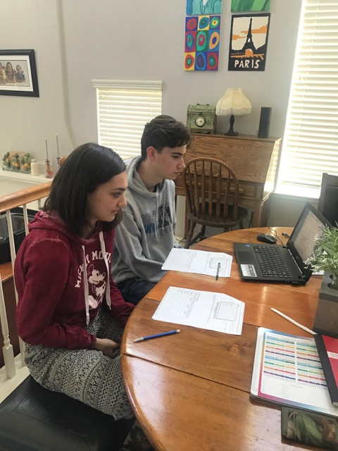 Online students getting math tutoring in their home from UCLA graduate, Alexandra.