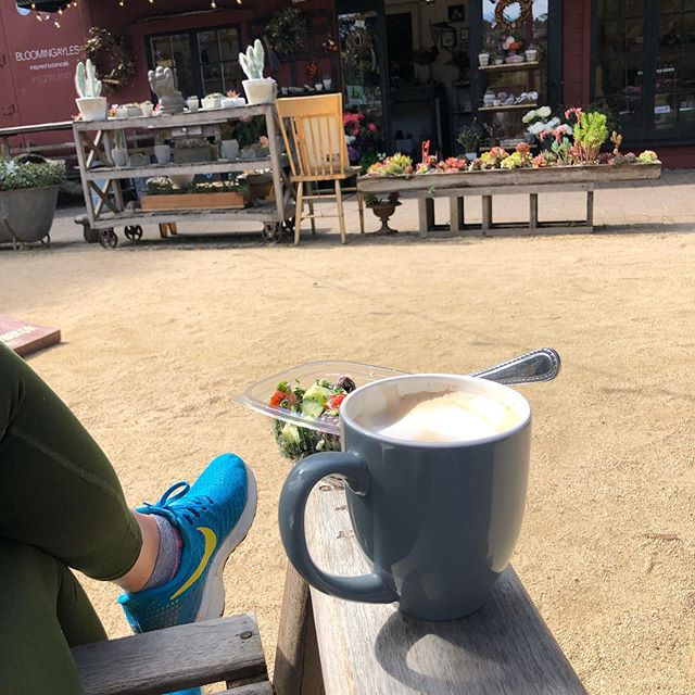 Thank you @bloomingayles_marin for mind-clearing peaceful inspiration this morning and thank you @flourcraft bakery for the morning snack to fuel my Fortress of Focus. Words were flying onto the page and the list of upcoming projects for Mill Valley students is growing!