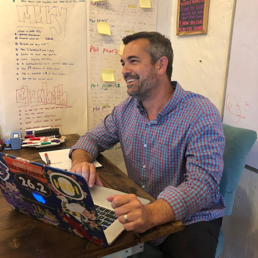 Our CFO, Jeff Payne, hard at work in our Sausalito office.