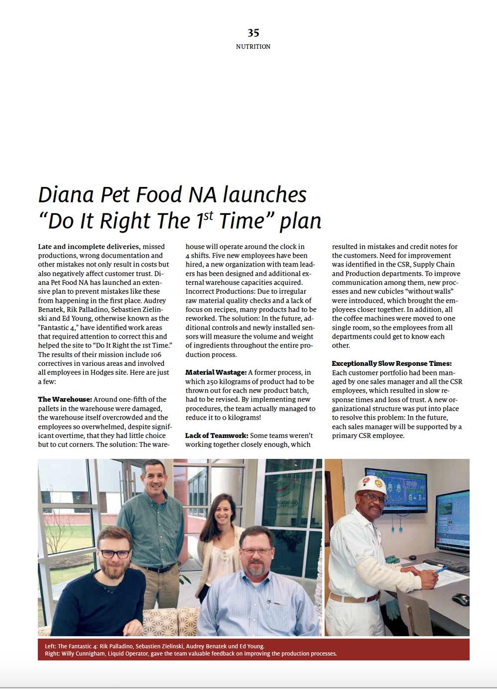 Pet Food Producer — We Reduce Chaos, LLC