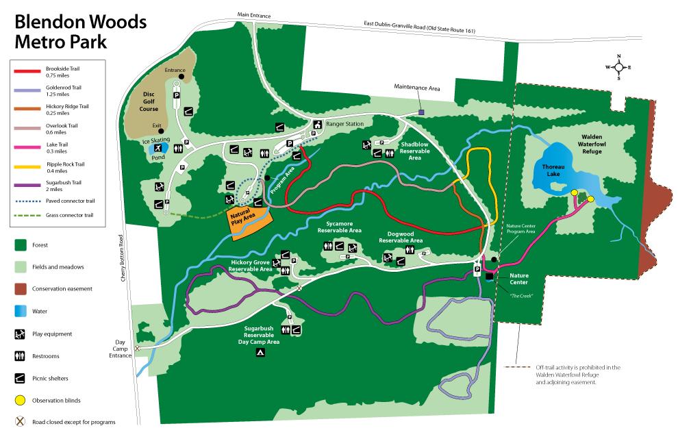 Blendon Woods Map
