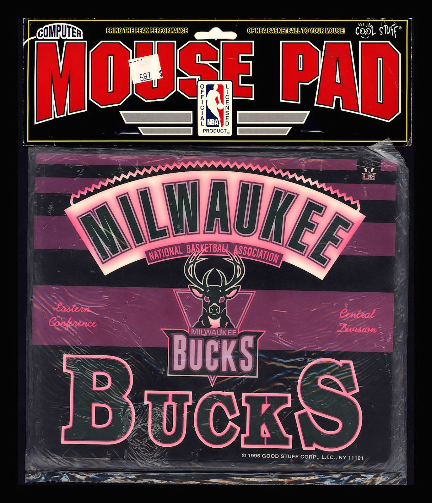"VINTAGE 1995 ""MILWAUKEE BUCKS"" OFFICIAL NBA MOUSE PAD-SEALED, $10.95 eBay"