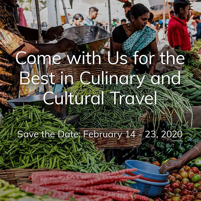 Save the Date: February 14-23, 2020 | Mumbai and Goa with Chef Floyd Cardoz | See link in bio . . . #KilachandandKarp #culinarytravel #gastrotravel #Indiaisforfoodlovers #spices #flavors #FloydCardoz #mumbai  #goa