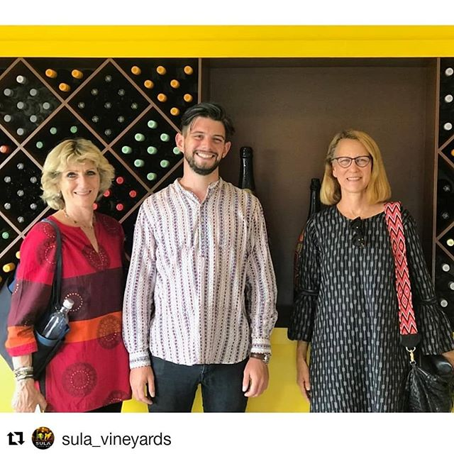 #Repost @sula_vineyards (@get_repost) ・・・ We were delighted to host intrepid travelers and foodies, @Kilachand_Karp at our Nashik vineyards and resort The Source at Sula, this weekend. Here they are with our chief wine-maker Karan Vasani finding out more about what we do.  #SulaVineyards #Nashik #TheSourceAtSula #BlendYourOwnWine #kilachandandkarp #travelers #foodies #Wine #WineLover #WineTasting #winestagram