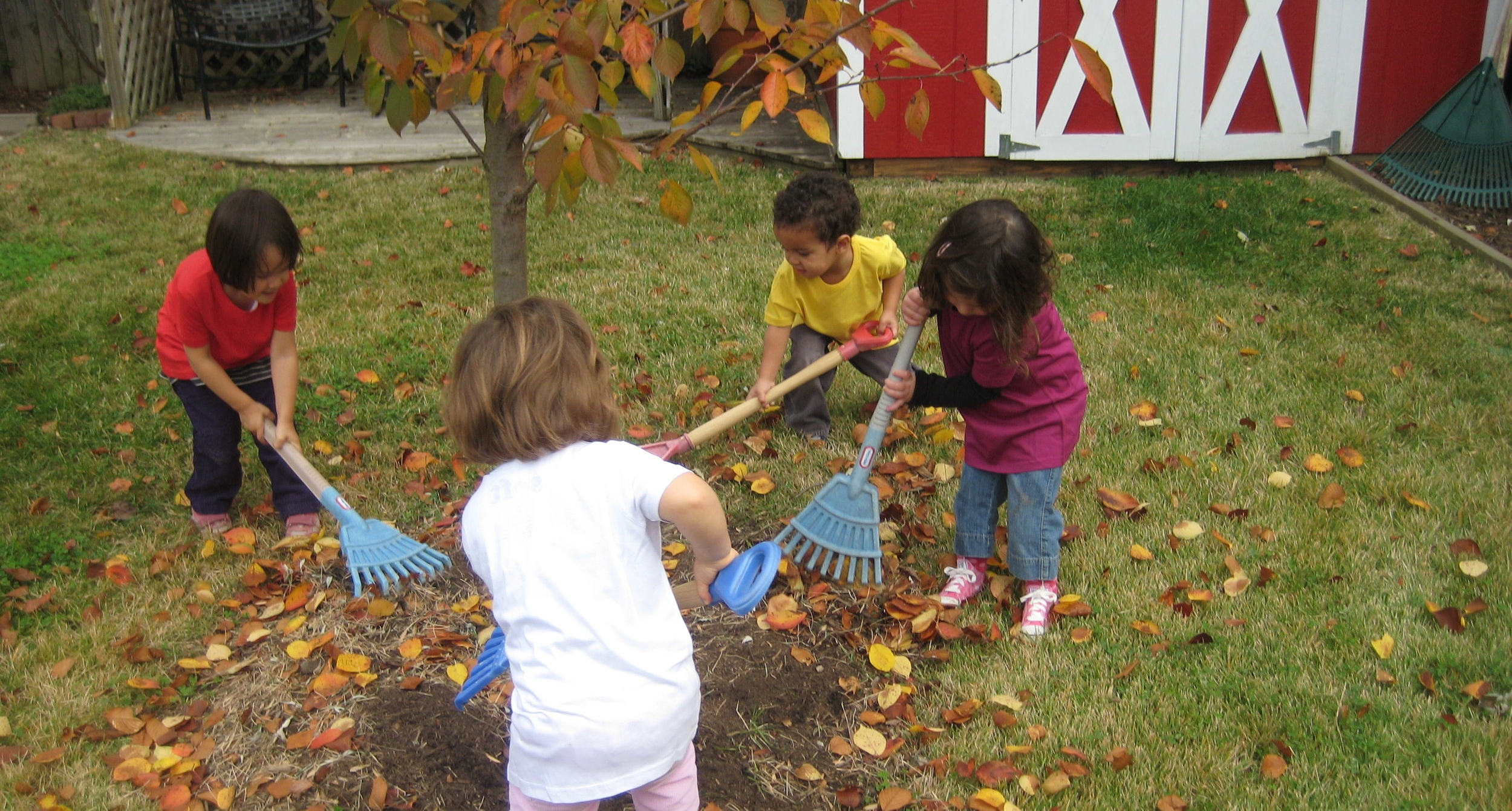 Taking care of the garden in Fall.