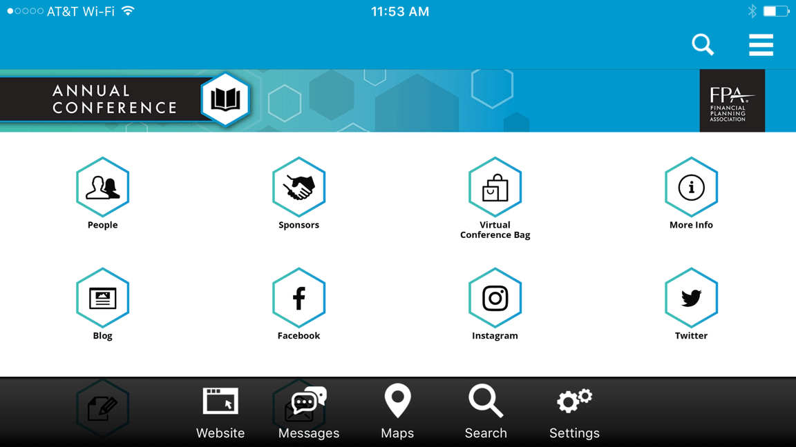 Detail of 2017 Annual Conference Mobile App