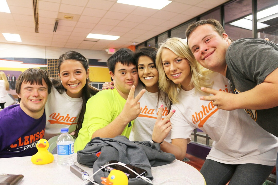 We rented out the Student Underground and had an afternoon of bowling, ping pong, hula hooping and bracelet making with our friends in the ClemsonLIFE program
