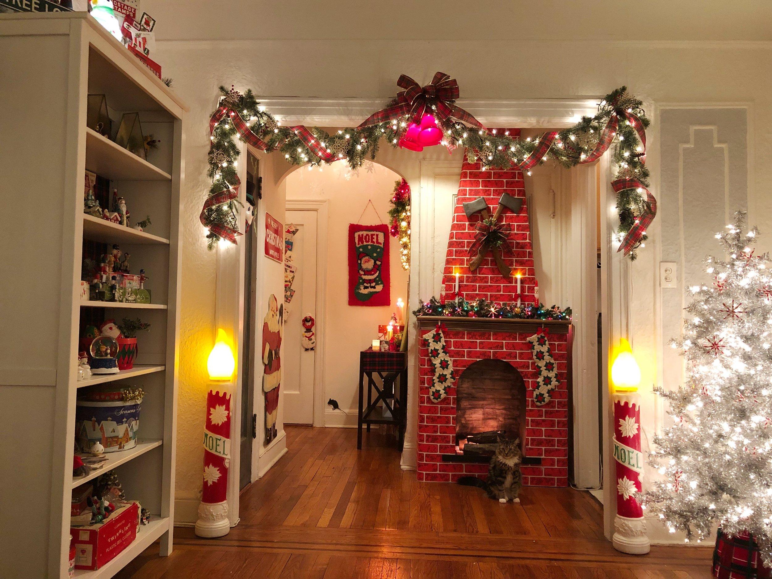 Christmas Apartment Tour - Astoria, Queens, New York - NYC #VintageChristmas #ChristmasDIY #KitschyChristmas