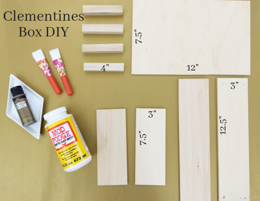 Clementines Inspired Wooden Craft Box DIY using balsa wood