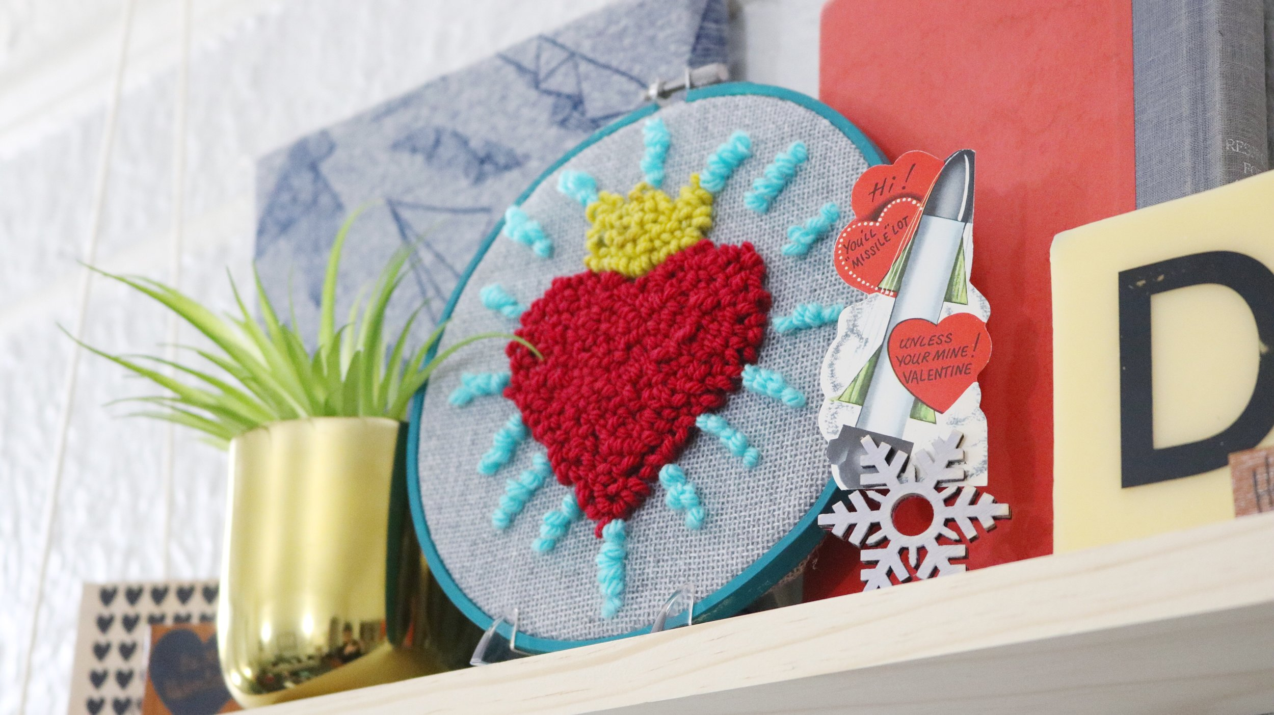 Quick Valentine's Day Punch Needle Art — Crafty Lumberjacks